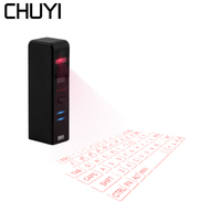 CHUYI Laser Keyboard Bluetooth Wireless Virtual Projection Keyboard Portable With Mouse Function For Windows Android iOS Tablet