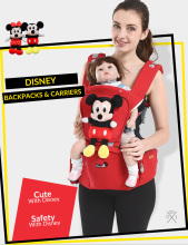 Disney Breathable Cartoon  Baby Carrier Mickey Infant Comfortable Sling Minnie Backpack Toddler Detachable Front Facing Stool