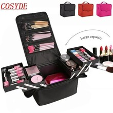 New Fashion Women Makeup Organizer Large Capacity Multilayer Clapboard Cosmetic