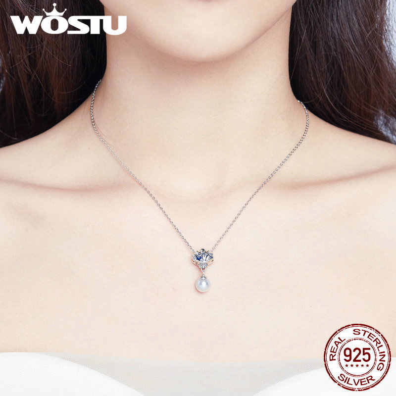 WOSTU 925 Sterling Silver Tropical Shell Petite Locket Charm Pearl Beads Fit Original Bracelet Bangle DIY Jewelry Making CQC1155