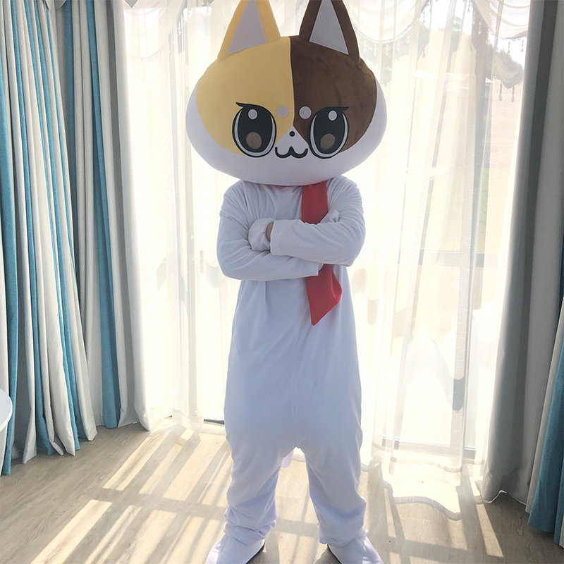 2019 New Discount Factory Sale Cat Mascot Costume Adult Size Halloween Cat Cartoon Costume Fancy Party Stage Performance Dress
