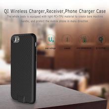 QI Беспроводной Зарядное устройство зарядки приемник мобильного телефона Зарядное устройство Защитный чехол задняя крышка для iPhone 6 6S 7 для 6-плюс 6s-плюс 7 P