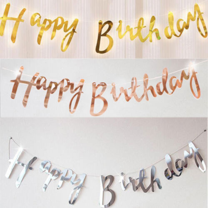 Brand New Style Fashion Diy Home Party Decoration Happy Birthday Banner Bunting Party Decor Party Diy Decorations Aliexpress