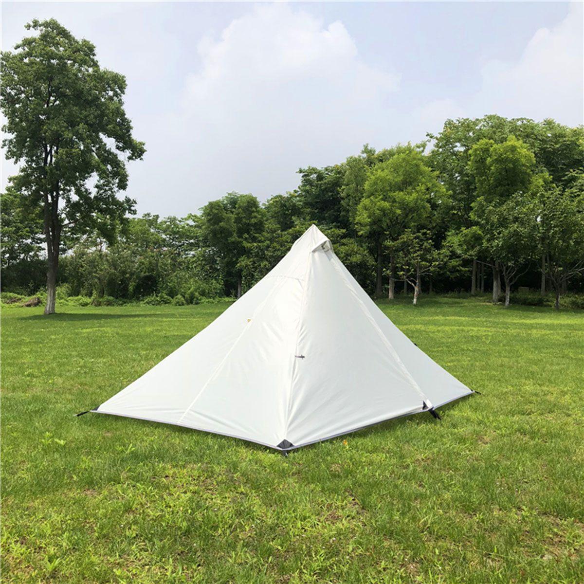 210 T extérieur personne pyramide tente sans sac à dos imperméable léger randonnée Camping randonnée pêche tentes ultra-légères