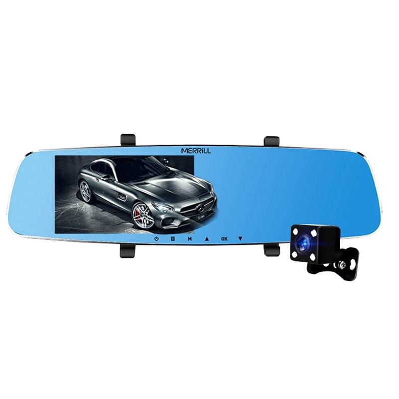Rétroviseur Merrill H501Plus enregistreur de conduite Hd 5 pouces Gps terne avant et après Double lentille vidéo de recul Camer visuel