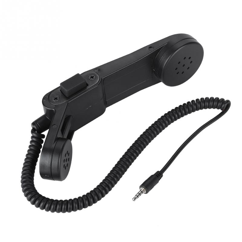 H250 3,5mm macho de micrófono altavoz de alta fidelidad de sonido hombro/De Teléfono Retro teléfono microfono mikrofon