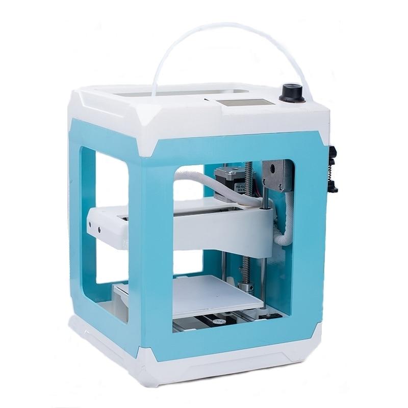 3D Imprimante Mini Taille bricolage Assemblé Cadre En Aluminium 3D Imprimante Kit 110*110*125mm Taille D'impression 1.75mm Buse D'anniversaire Cadeau