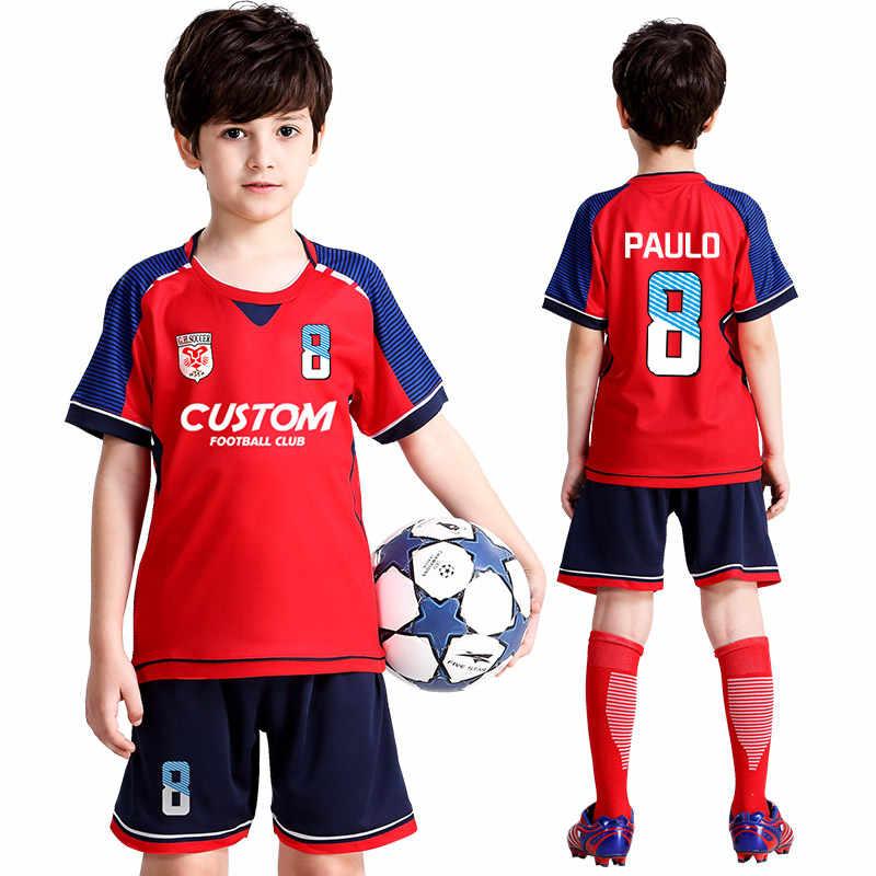 Football Jersey Kids Soccer Jerseys Set