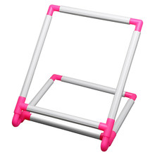 Embroidery Frame Practical Universal Clip Plastic Cross Stitch Hoop Stand Holder Support Rack Diy Craft Handheld Tool(China)