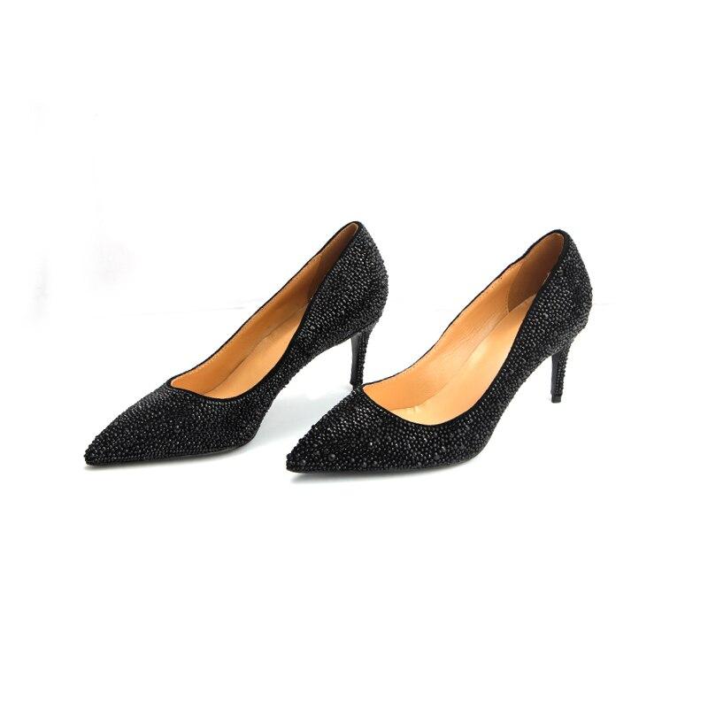 Talons Femmes Pompes Nouveau De Haute Qualité Style Mariage Cuir Pour Véritable Chaussures Hauts En Cg661xFwq