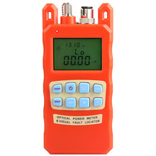 Orange Optical Power Meter Visual Fault Locator 2 In1 Machine 1-5km Red Light Source Optical Fiber Tester Combination(China)