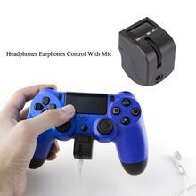 Sony dualshock 4 헤드폰 이어폰 컨트롤 (ps4 컨트롤러 액세서리 용 마이크 포함) 미니 핸들 오디오 헤드셋 어댑터