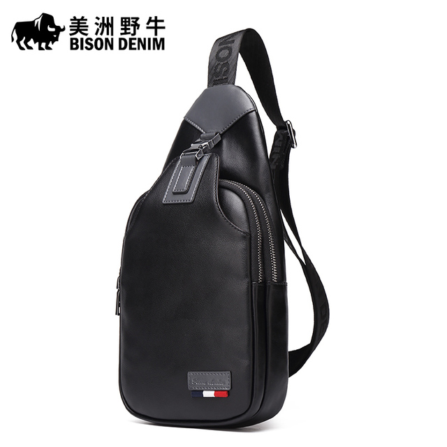 Us 48 6 46 Off Bison Denim Brand Mens Genuine Leather Beach Bag Men S Shoulder Bags Messenger Travel Casual Crossbody Free Shipping In