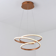 Champagne Modern LED Pendant Lights For Diningroom kitchen hanginglamp aluminum Lamp luminaire suspension nordic lamp