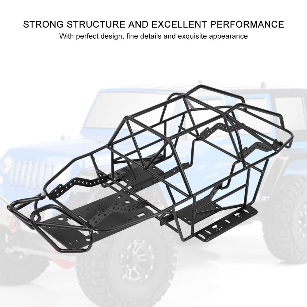Black Metal Roll Cage Chassis Frame for Axial SCX10II AX90046 1/10 Scale RC Car fine details and exquisite appearance-in Parts & Accessories from Toys & Hobbies    1