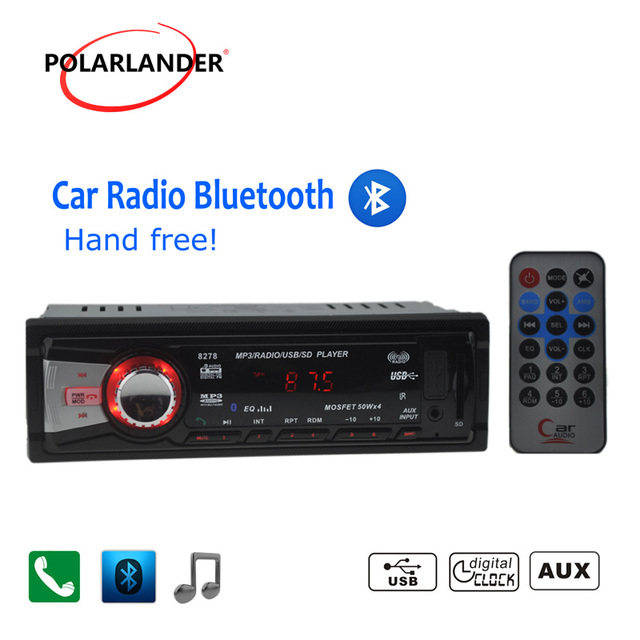 Autoradio 12V Car Stereo car Radio bluetooth MP3 Audio Player built in Bluetooth USB SD MMC 5V radio cassette player 1 DIN