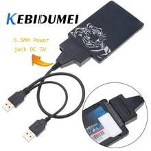 KEBIDUMEI USB 2.0 To 22 Pin SATA Cable Computer Hard Driver