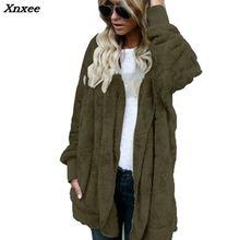 New Fashion Spring Faux Fur Warm winter coats on both sides Jacket Women Open Stitch Hooded Coat Female Long Sleeve Fuzzy Jacket fuzzy hooded jacket page 7