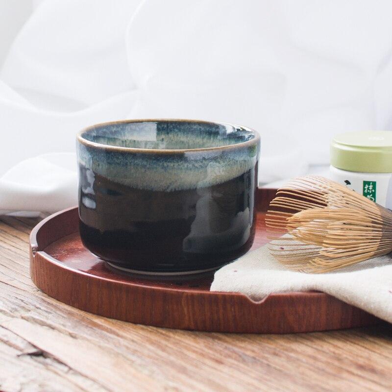 Cérémonie japonaise en céramique matcha unique bol fait à la main noir rétro thé tasse poterie thé vert chawan ensemble maccha teaware cadeau