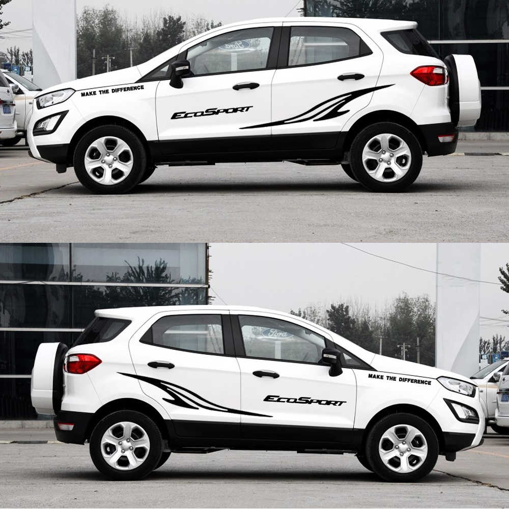 Auto part car styling for ford ecosport car side body decal sticker truck decals diy decoration
