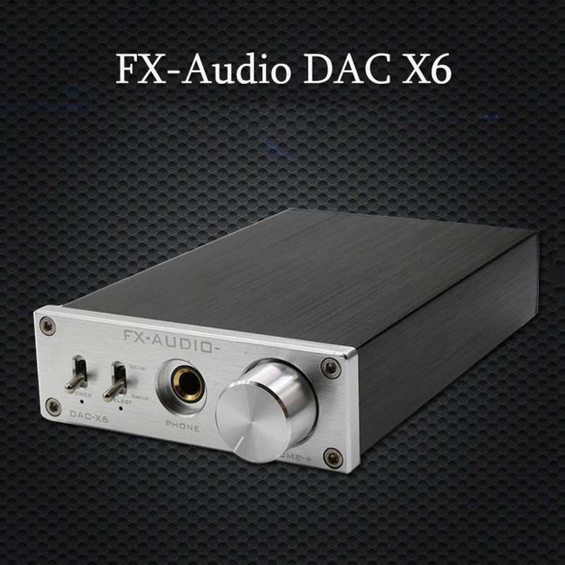 FX-Audio DAC X6 HiFi Optical Coaxial USB Headphone Amplifier Digital Audio DAC Decoder 24BIT/192 Home Audio AmplifierFX-Audio DAC X6 HiFi Optical Coaxial USB Headphone Amplifier Digital Audio DAC Decoder 24BIT/192 Home Audio Amplifier