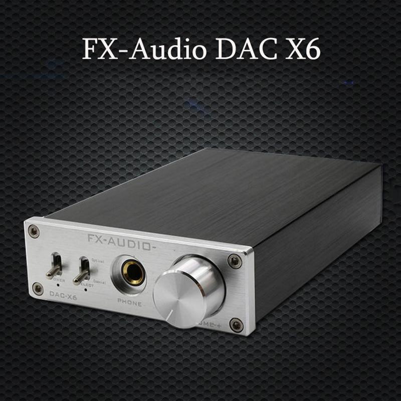 FX-Audio DAC X6 HiFi Optique Coaxial USB amplificateur de casque Numérique Audio DAC Décodeur 24BIT/192 Accueil amplificateur Audio