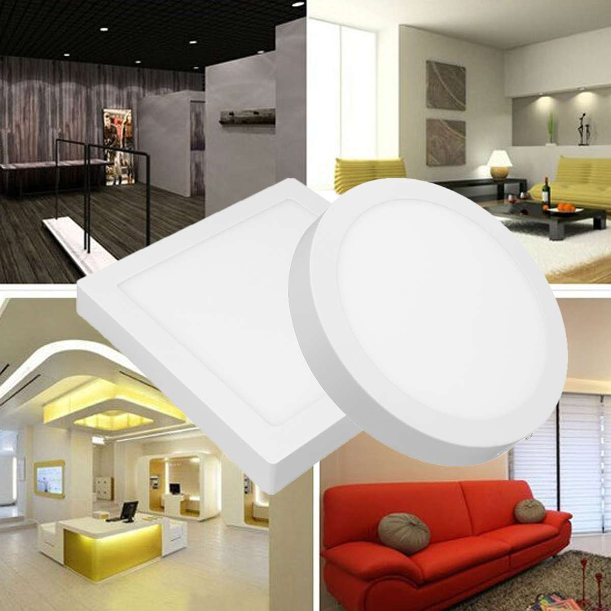 Ceiling Lights & Fans Friendly Wongshi Modern 2.4g Ir Remote Control Black White Iron Led Ceiling Lamp Surface Mounted Panel Simple Ceiling Light Always Buy Good