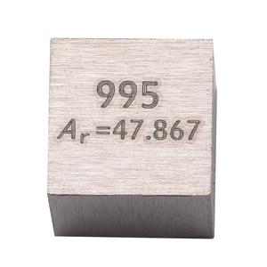 Image 4 - 1 قطعة 99.5% التيتانيوم النقي عالية النقاء مكعب Ti المعادن منحوتة عنصر الدورية الجدول الحرفية مجموعة رائعة 10*10*10 مللي متر