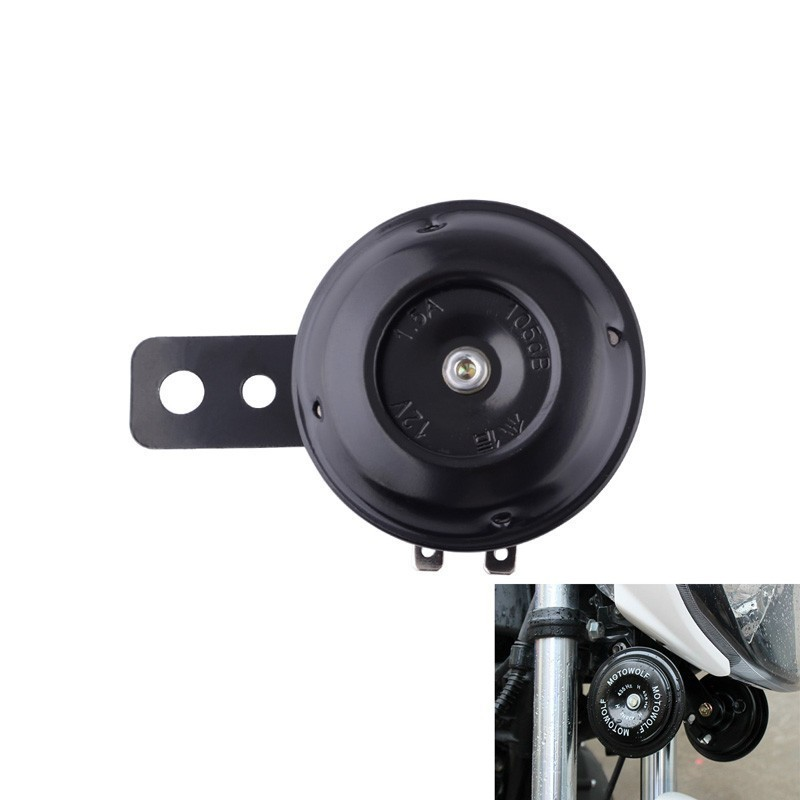 12V 1.5A 105db Loud Motorcycle Horn Motorcycle Electric Air Horn Security Alarm Compound Alarm Horn Scooter Bracket