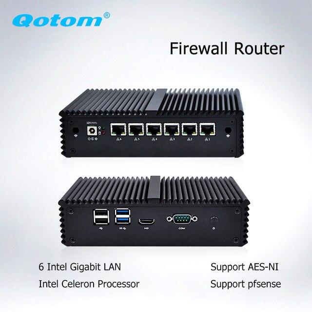 Qotom Q555G6 Q575G6 7-й промышленный ПК шлюз межсетевой экран маршрутизатор для pfSense-Intel i5 7200U i7 7500U AES-NI