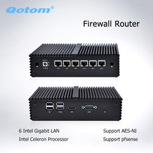 Qotom Q555G6 Q575G6 7th Industrial PC Gateway Firewall Router untuk Pfsense-Intel I5 7200U I7 7500U AES-NI(China)