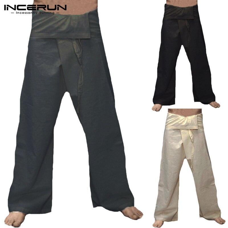 Fashion 2019 Mens Wide Leg Pants Fisherman Pants Baggy Casual Trousers Drawstring Pants Plus Size 5XL Pantalon Hombre Clothing