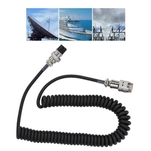 Newest Handy 8-pin Coiled Extension Microphone Cord Male Female Cable