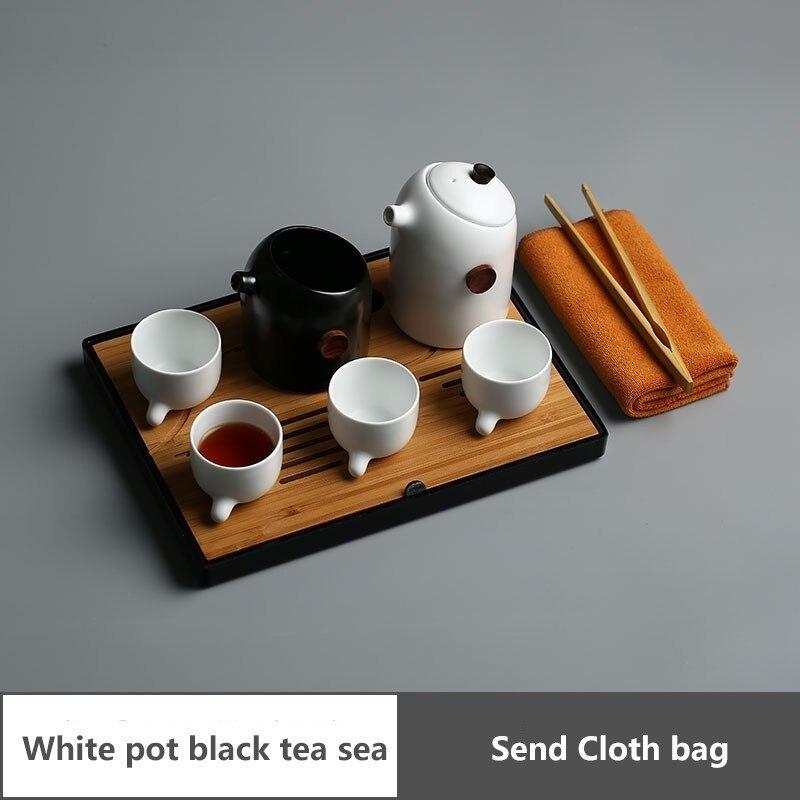 5xfj Portable Travel Tea Set Suit Cloth Package Accept Ceramics Teapot Teacup Tea Tray A Complete