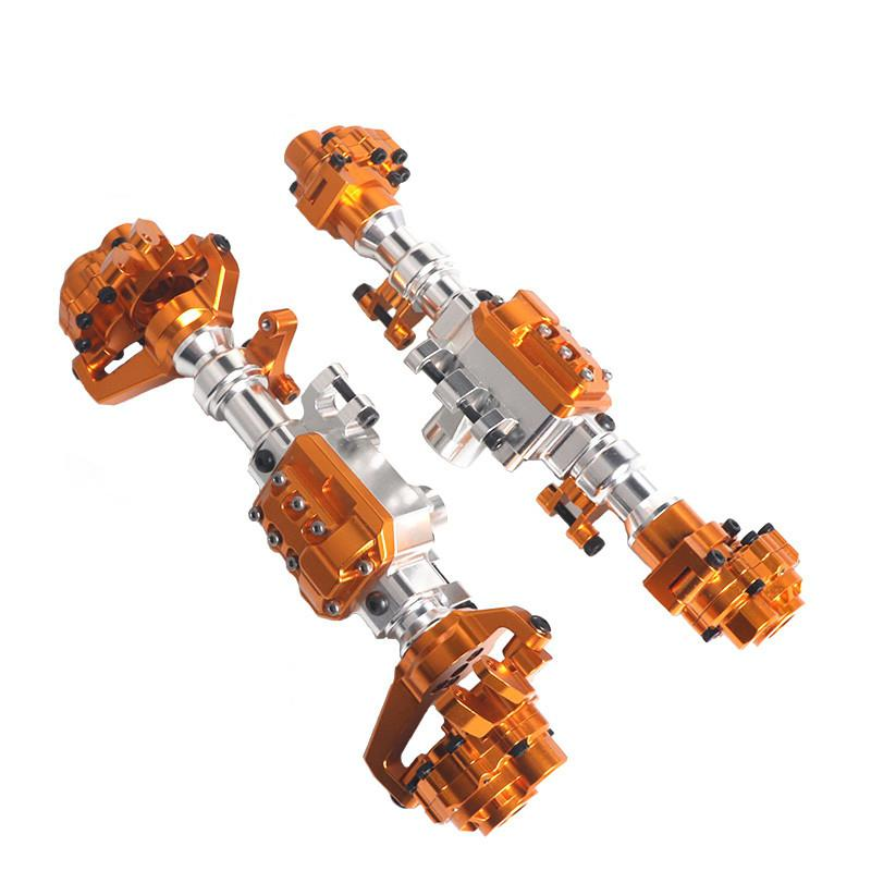 LeadingStar TRX4 อลูมิเนียมด้านหน้าด้านหลัง Portal Axle Housing ทองสำหรับ 1/10 RC Crawler รถ TRX 4 เพลาอะไหล่อัพเกรด-ใน ชิ้นส่วนและอุปกรณ์เสริม จาก ของเล่นและงานอดิเรก บน   1