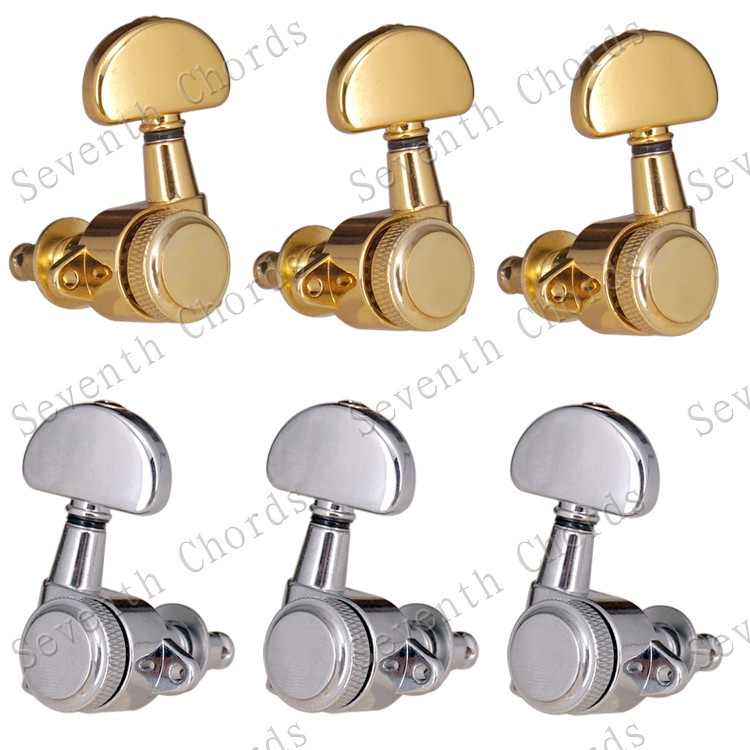 A Set Right Angle Screw Hole Locked String Tuners Tuning Peg key Machine Heads For Acoustic