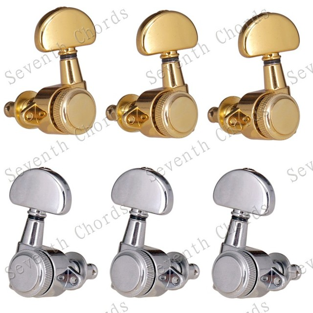 US $34 88  Aliexpress com : Buy A Set Right Angle Screw Hole Locked String  Tuners Tuning Peg key Machine Heads For Acoustic Electric Guitar Lock
