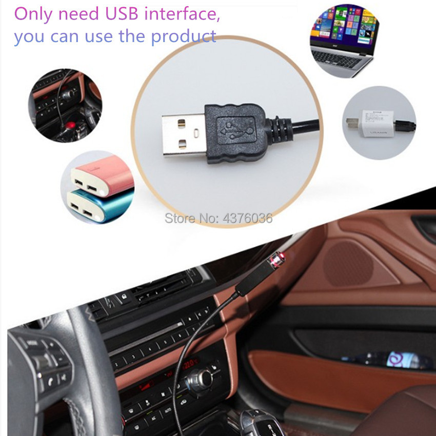 USB <font><b>LED</b></font> Car Atmosphere Lamp Decorative for Dacia duster logan sandero stepway lodgy mcv 2 <font><b>Renault</b></font> Megane <font><b>Modus</b></font> Espace Laguna image