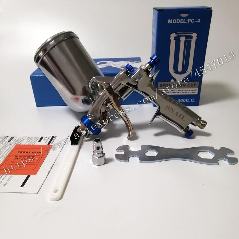 Aluminum 400cc cup SPRAY GUN W 101 paint gun hand manual paint spray 1.0/1.3/1.5/1.8mm Japan qualityW101 spray paint