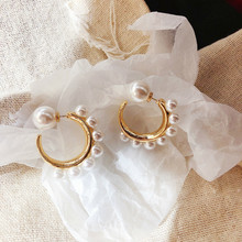 2019 Korea Classic Round Simulated-pearl Women Stud Earrings Delicate Pearl Earrings Fashion Jewelry Womens Accessories