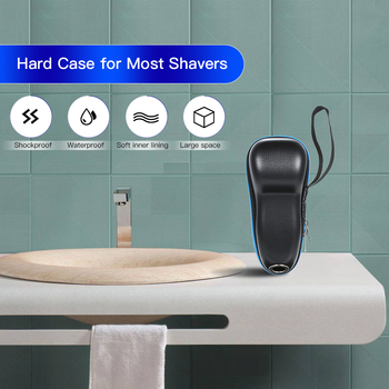 Hard Case for Philips and for Braun Shaver S7000 S5000 S900 RQ PT HQ Series Beard Trimmer Storage Bag with Metal Hole to Charge