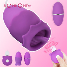 Sex Shop Clitoris Licking Stimulator Tongue Vibrator Nipple Sucker Breast Enlarge Vibrator Sex Toys Vagina Masturbator for Women недорого
