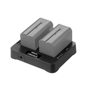 Image 5 - YONGNUO cargador de batería de litio YN750C, doble canal, carga rápida, Compatible con Sony NP F750 NP F950/B NP F530 NP F550