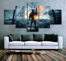 Home Decor Poster HD Pictures Prints Canvas 5 Piece Modular Battlefield 5 Gema Living Room Art Decorative Painting Framed