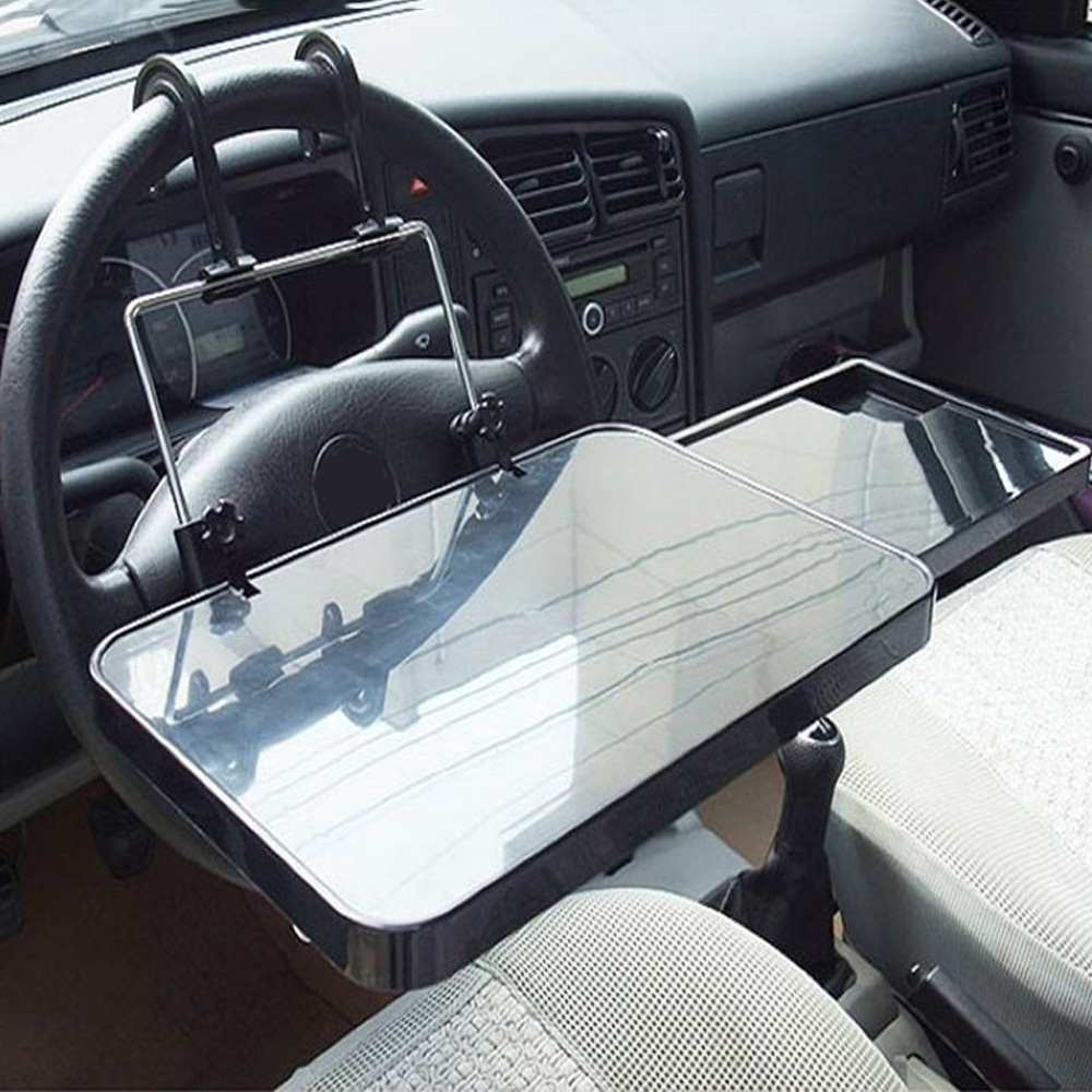 Vehicle Mounted Computer Desk <font><b>Folding</b></font> Car <font><b>Notebook</b></font> Ipad Bracket Car Inner Dining <font><b>Table</b></font> Board Desk Coffee Holder Laptop Dropship image