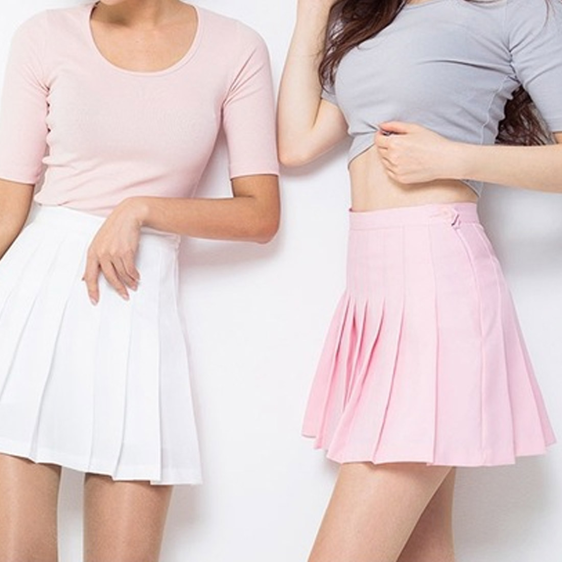 High waist pleated skirts A line Sailor Skirt New Harajuku School Girls Uniforms candy color Skirt in Skirts from Women 39 s Clothing