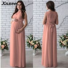 цены на Summer lace maternity photography dress elegant party dresses pregnancy clothes pregnant women maxi long dress plus size Xnxee в интернет-магазинах