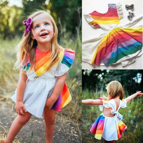 726f763ac32b8 Detail Feedback Questions about 2019 Brand New Rainbow Dress Kids ...