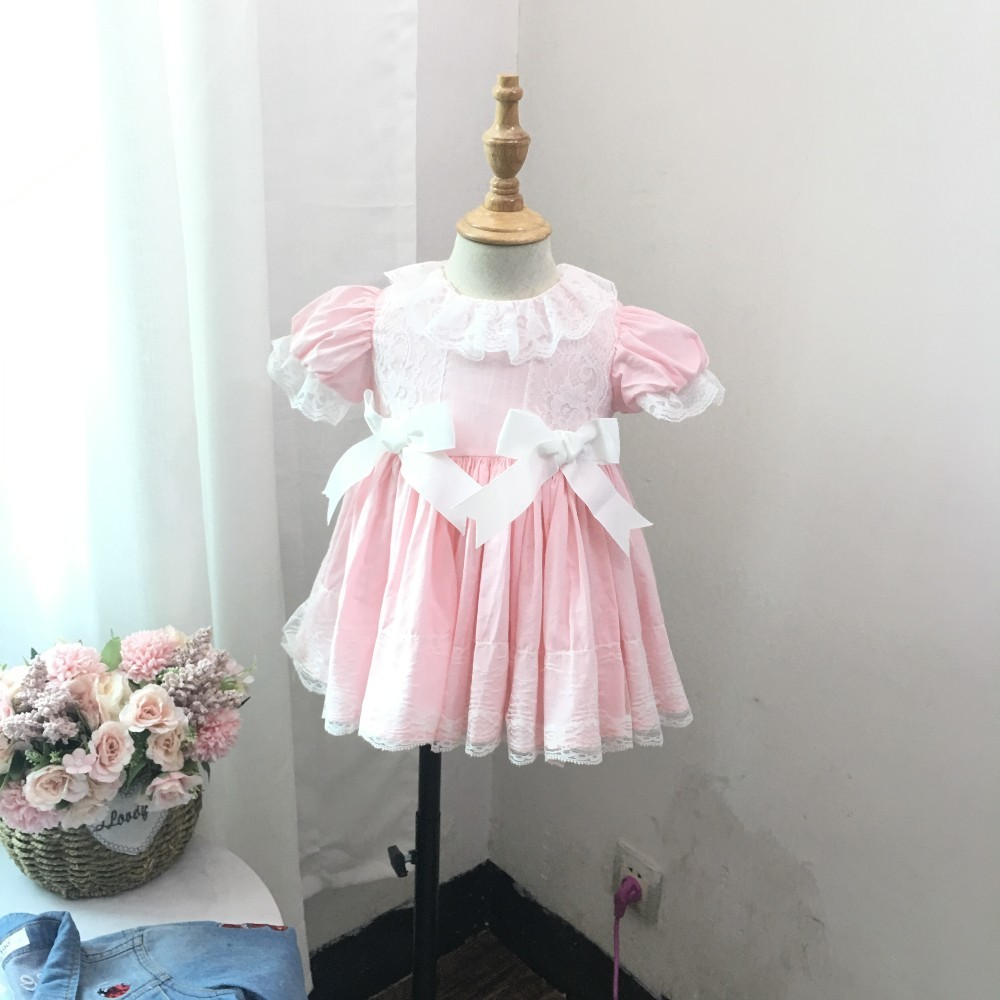 e747a71a6f baby girls vintage dresses pink ruffles lace embroidery baby frock for kids  dresses for girl clothing cotton children wedding-in Dresses from Mother &  Kids ...