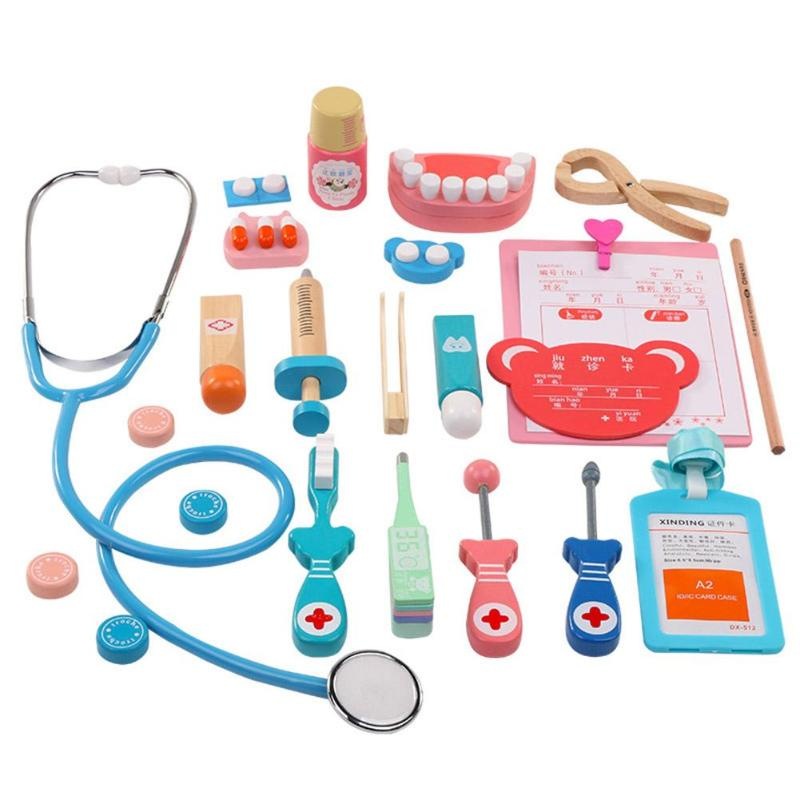 Realistic Children Toys Set Of Travel Bags Baby Medical Kit Cosplay Doctors Medical Nurse Stethoscope Medical Box Simulation Gift Fragrant (In) Flavor